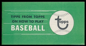 BB 68B Tipps from Topps Booklet