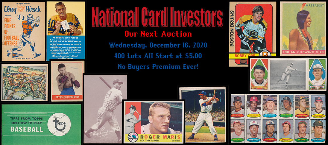 Next Auction November 4, 2020